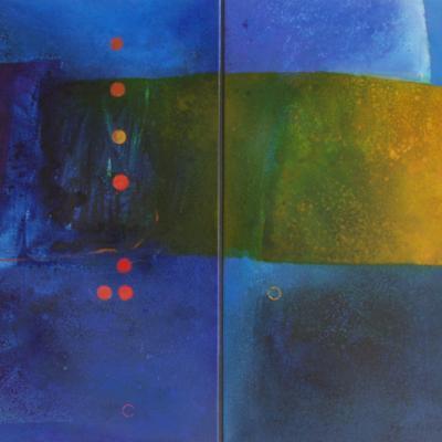 Bearah Diptych II, Oil on Canvas, 2005