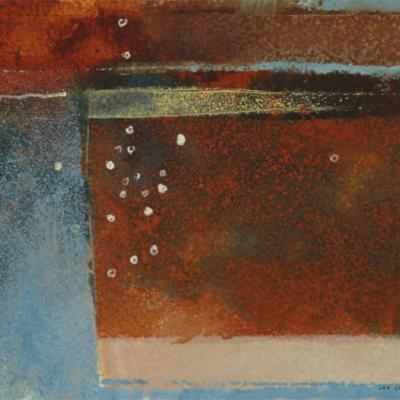 STUDY FOR QUARRY SERIES: WAVELLITE VIII - OXIDE ORANGE